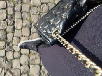 Comfy Geox D Modesty Studded Hi-Top & Rebecca Minkoff purse.