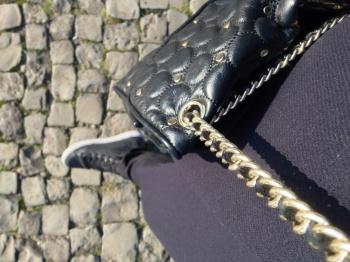 Comfy Geox D Modesty Studded Hi-Top & Rebecca Minkoff purse.
