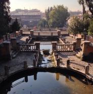 Parco di Traino above the Rome Colloseum.