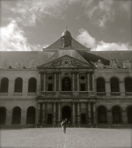 Invalides France Black & White entrance
