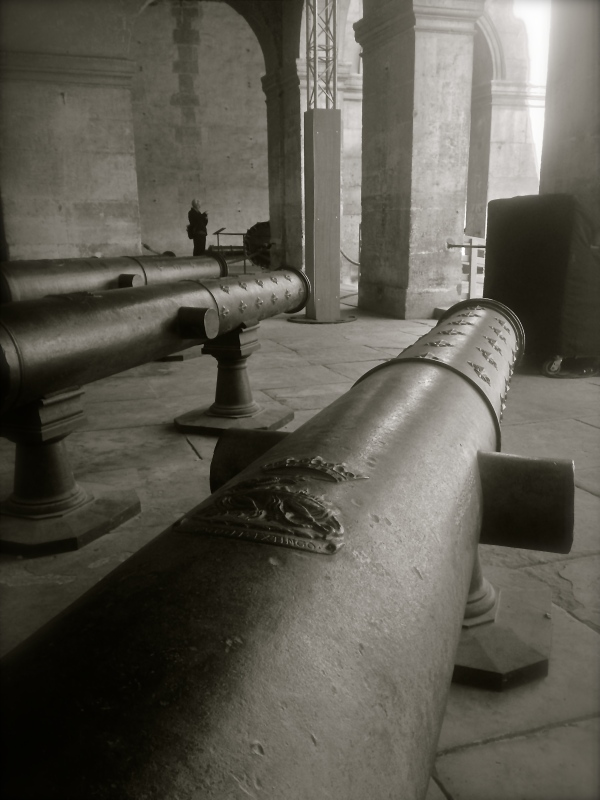Invalides France Black & White cannon