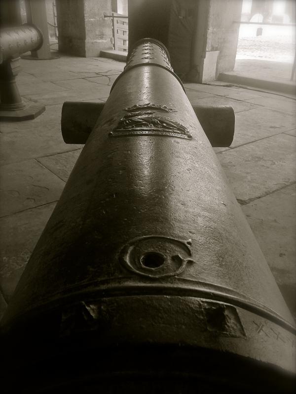 Invalides France Black & White cannon