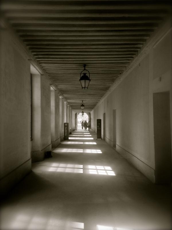 Invalides France Black & White Hallway