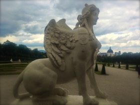 Belvedere Gardens. Mythology gave her wings to fly.