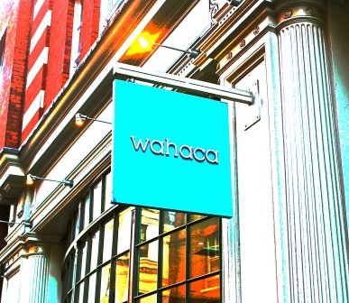 Wahaca Restaurant Sign