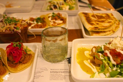 We went with the sampler, Wahaca Selection