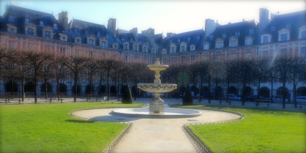 Place Des Vosges Square, The museum is on the corner left ahead.