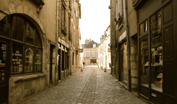 Just a sentence and vintage filtered photos of Blois